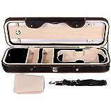 SLB Works 4/4 Violion Box Violin Case with Humidity Table Straps Locks Waterproof