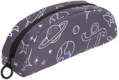 2ea95f6775 Space Galaxy vaisseau spatial Trousse Pochette Pochette Pochette Sac  Fermeture Éclair Petit sac Maquillage articles de papeterie pour  enfants Fille ...