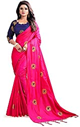 Explore the collection of beautifully designed sarees from Kuvarba Fashion on Amazon. Each piece is elegantly crafted and will surely add to your wardrobe. Pair this piece with heels or flats for a graceful look.