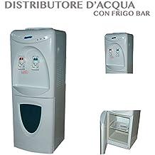 Dispensador de agua fría y caliente. De suelo. Con mininevera para bebidas