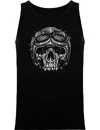 The Fan Tee Tank Top de Hombre Skull Calavera XJmL7a3A