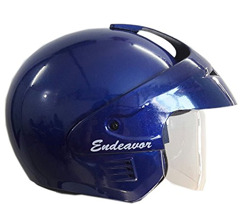 Wrangler WRR_016 Endeavor Modified with Aerodynamic Cap and Visor Open Face Helmet (Blue, M)