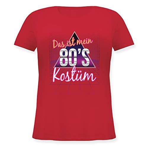 Karneval & Fasching - Das ist Mein 80er Jahre Kostüm - L (48) - Rot - JHK601 - Lockeres Damen-Shirt in großen Größen mit Rundhalsausschnitt (Frauen Kostüm Tron)