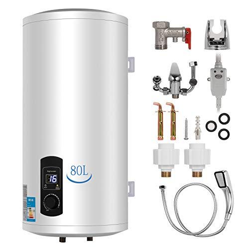 FlowerW 80L Elektrische Warmwasserbereiter 2KW Warmwasserbereiter mit Tank Warmwasserbereiter für Küche,Bad (80L)