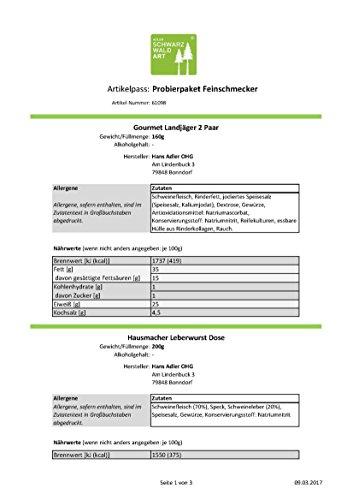 Adler Probierpaket Feinschmecker