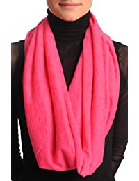 Cerise Pink Woolly Snood Scarf - Pink Designer Snood