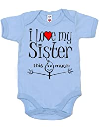 IiE, I love my Sister this much, Baby Unisex, Bodysuit