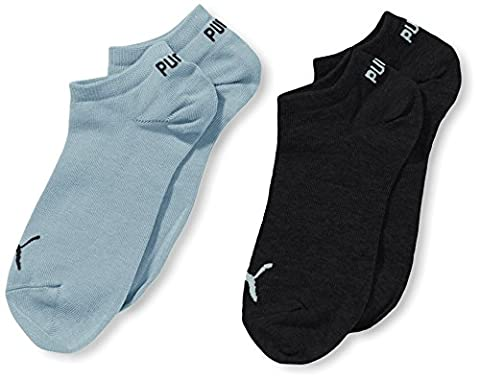 Puma Sneaker Socks (Pack of 2) - Blue, Size (Imbottite Calzini Sport Quarter)