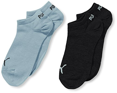 Puma Unisex - Kinder Socken Invisible 2er Pack, navy/angel falls, 31/34, 271325
