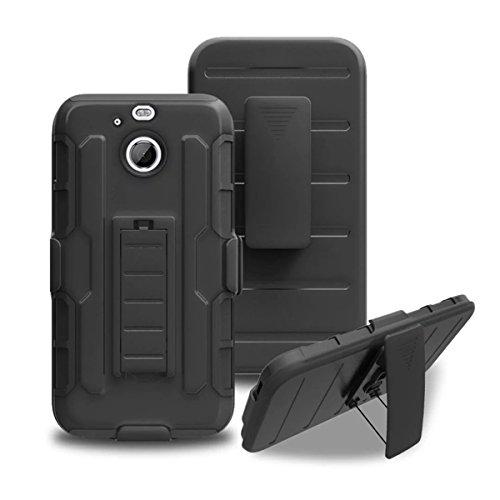 HTC Bolt Hülle, HTC 10 Evo Hülle, Gift_Source [ Schwarz ] Case Schutzhülle Tasche Dual-Schicht Holster Hülle mit Standhalter, schwenkbaren Gürtel mit Locking-Mechanismus für HTC Bolt / 10 Evo