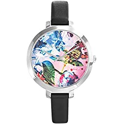 Flower Box - Bracelet - Woman - Christian Lacroix - 8009709 Black Leather Watch