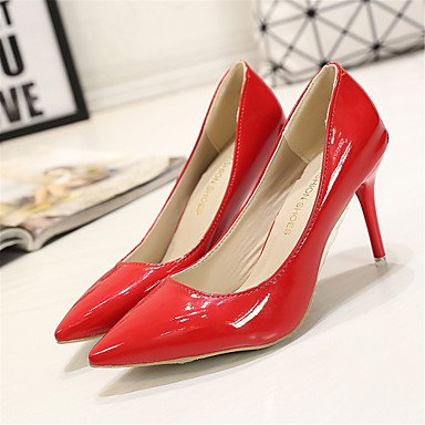 Moda Donna Sandali Sexy donna tacchi Casual Fashion Comfort scarpe in pelle per il Business Party & sera abito / Stiletto Heel Slip-on Red
