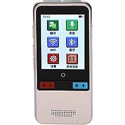 VBESTLIFE Traductor Inteligente Portátil 45 Idiomas Traductor Instantaneo de Voz en Tiempo Real Multilingüe sin Ruido2.4 '' Pantalla Táctil Micrófono Dual Reducción de Ruido(Golden)