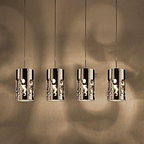 Artes claras Lámpara Chandelier con 4 Bombillas - MUCH