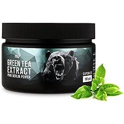 nu3 Green Tea Extract 400 mg | 160 Kapseln - hoch-dosiert | Grüner Tee Extrakt mit wertvollen Polyphenolen und 200 mg Epigallocatchingallat (EGCG) pro Kapsel | Natürlich & Vegan