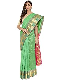 CLASSICATE From the house of The Chennai Silks Traditional Silk Saree (CCMYSS10385 - Classic Green)