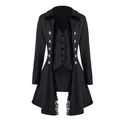 Damen Steampunk Gothic Barock Anzug Jacke Mantel Viktorianische Frack Mode Holloween Party Cosplay Kostüm Outwear Schwanzmantel mit - Holloween Gothic Kostüm