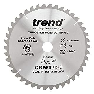 Trend Craft Pro saw blade - 255mm diameter 30mm bore 42tooth TCT