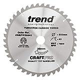 Trend CSB/CC25542 Craft saw blade crosscut 255mm x 42 teeth x 30mm - CSB/CC25542 - Silver