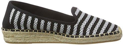 Esprit Ines Stripes So, Espadrilles femme Noir - Schwarz (001 black)