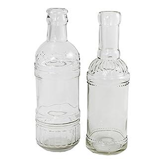 Annastore 12 Stück Dekoflaschen - Vasen - Kerzenständer H 20,5 cm