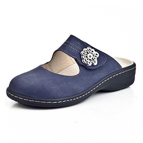DR.BRINKMANN Damen Pantoletten, Clogs, blau, 700836-5 blau