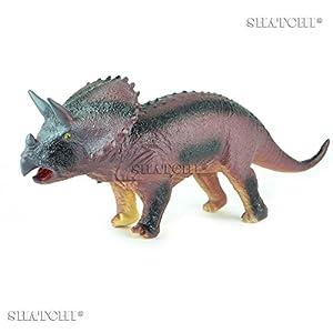 Gifts 4 All Occasions Limited SHATCHI-713 7004 - Figura de dinosaurio de goma para niños, modelo de juego táctil con sonido, multicolor