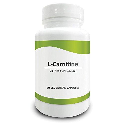 Pure Science L-Carnitina 500mg - Integratore Alimentare Specifico per il Cervello che Offre Protezione Antiossidante al Sistema Nervoso e Protegge le Cellule Cerebrali da Perdita della Memoria e Deprivazione Cognitiva relative all'avanzare dell'età, Ottimizza la Produzione di Energia Cellulare e la Perdita di Peso - 50 Capsule Vegetariane