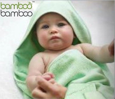 Organic Bamboo Hooded Baby Bath Towel Naturally Hypoallergenic Anti-Bacterial and Ultrasoft (90cm x 90cm)