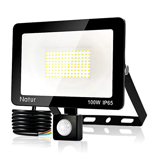 Bapro Faretto LED per Esterno con Sensore di Movimento 100W, 8500LM Faro LED, IP65 Impermeabile LED Esterno, Illuminazione per Parcheggio, Ingresso, Corridoio, Garage