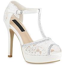 268680b826176 Suchergebnis auf Amazon.de für: weisse Abend-Sandaletten, High Heels ...