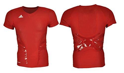 adidas Techfit Powerweb Kompressions T-Shirt Climacool grün schwarz blau rot (Rot, XL) -