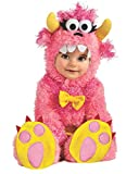 Horror-Shop Little Pink Monster Babykostüm für Fasching & Halloween - Größe S und M S
