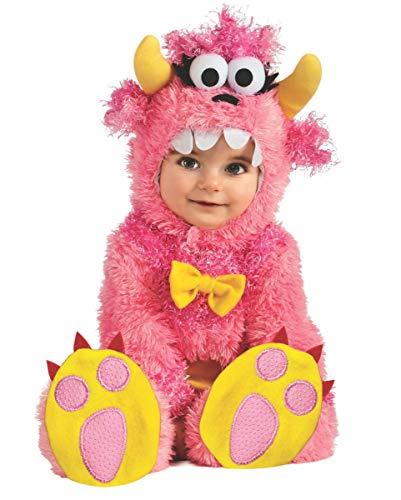 Horror-Shop Little Pink Monster Babykostüm für Fasching & Halloween - Größe S und M S (Baby Mini Monster Kostüm)