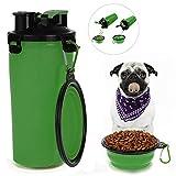 EisEyen Trinkflasche Hund Wasserflasche Hunde mit Katzen Faltbar Reisenapf Hund 2 in 1 EIN Set für Haustiere Unterwegs Reise Outdoor Travel Trip