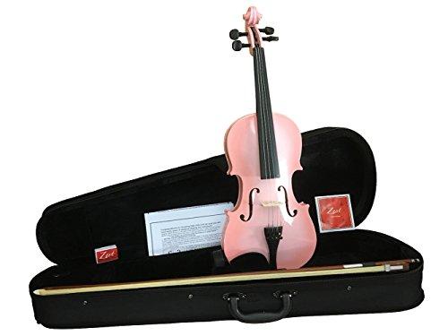"""Akustik-Violine von Zest in """"Pink Burst"""", Größe 1/4bis 4/4, Violine mit Bogen und gepolsterter Schutzhülle 1/2 pink burst"""