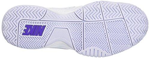 Nike City Court 7 (Gs), Sneakers basses fille Blanc / argenté / violet (blanc / argenté métallique - hyper raisin)