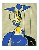 Roy Lichtenstein Frau mit Hut Poster Bild Kunstdruck 71x56cm