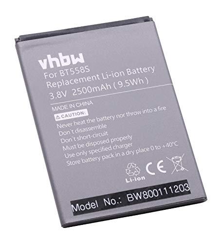 vhbw Li-Polymer batería 2500mAh (3.8V) para teléfono móvil Smartphone teléfono Zopo S5580, Speed 7 por BT558s.