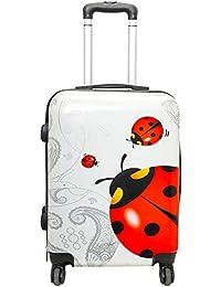 3a354490b1 Moove Valigia trolley bagaglio a mano idoneo per voli Rynair e Easyjet  55x40x20, valigia rigida in policarbonato (Coccinella,…