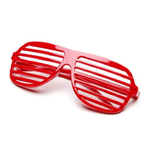 1 Stück Rot Kunststoff Fensterlädenbrillen Jalousie Sonnenbrille Geschlitzte Blackout Brillen Party Favors Kostüm zum Kinder & Erwachsene von SamGreatWorld