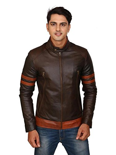 C Comfort Genuine Leather Men Casual Tann Jacket