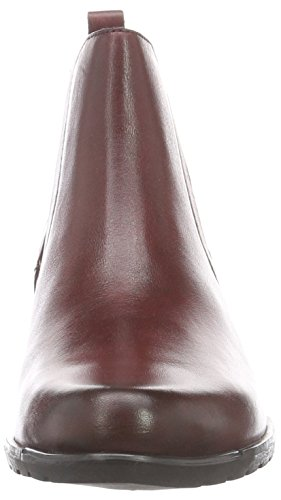 Caprice 25322, Bottes Chelsea Femme Rouge (Bordeaux 549)