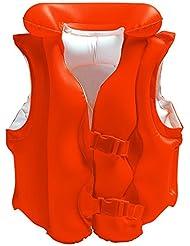Intex - Chaleco hinchable Intex naranja con hebillas - 50x47 cm - 58671EU