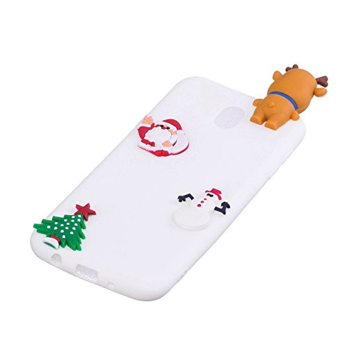 Galaxy J3 2017 Coque, Galaxy J3 2017 Silicone Slim Case, Saincat Housse Pour Samsung Galaxy J3 2017 Silicone Soft Case 3d, Shock-absorption Ultra Slim Silicone Case Ultra Slim Doux G Moose Blanc