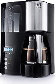 Melitta Optima 100801 Zamanlayıcılı Filtre Kahve Makinesi, Siyah, Paslanmaz Çelik, Siyah