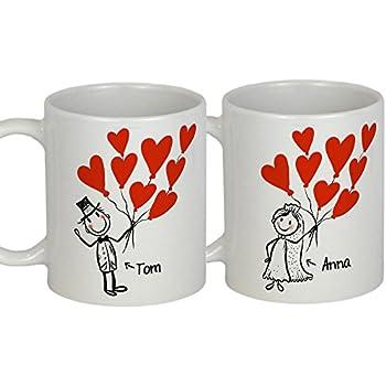 Hochzeitsgeschenke für Brautpaar MR MRS PERSONALISIERBARES Tassen Set