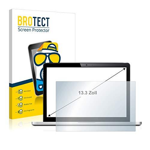 BROTECT Schutzfolie Matt für Notebooks & Laptops mit 33.8 cm (13.3 Zoll) [294 mm x 165.5 mm, 16:9] - Entspiegelt