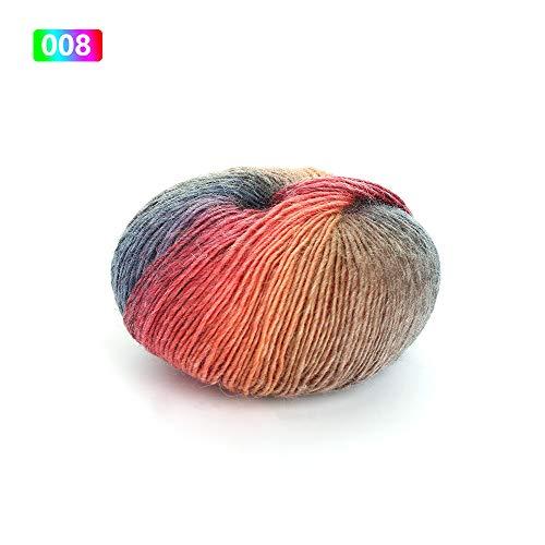 Weshcun - Ovillo de lana de cachemira para tejer con fibra de leche, 50 g Colour 8