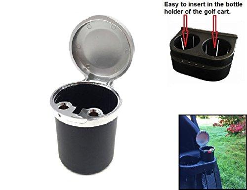 LL-Golf ® Schließbarer Golf Aschenbecher/Ascher/Ashtray/für das Golfcart/Golf Cart/einfaches Einsetzen im Getränkehalter